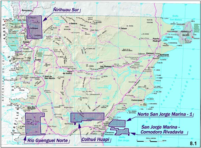 Alrededor de un 32 por ciento de la superficie provincial, bajo exploración