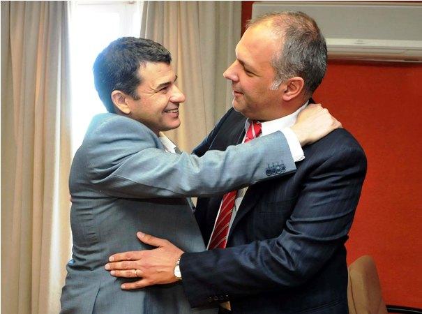 Galuccio en Comodoro Rivadavia, junto al gobernador Martìn Buzzi